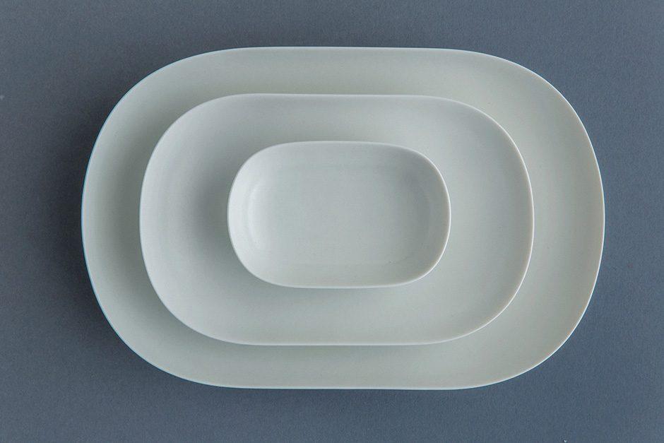 yumiko iihoshi porcelain ReIRABO オーバルプレート quiet white