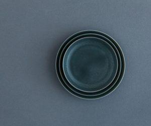 yumiko iihoshi porcelain ReIRABO ラウンドプレート(S)(M)(L)winter night gray