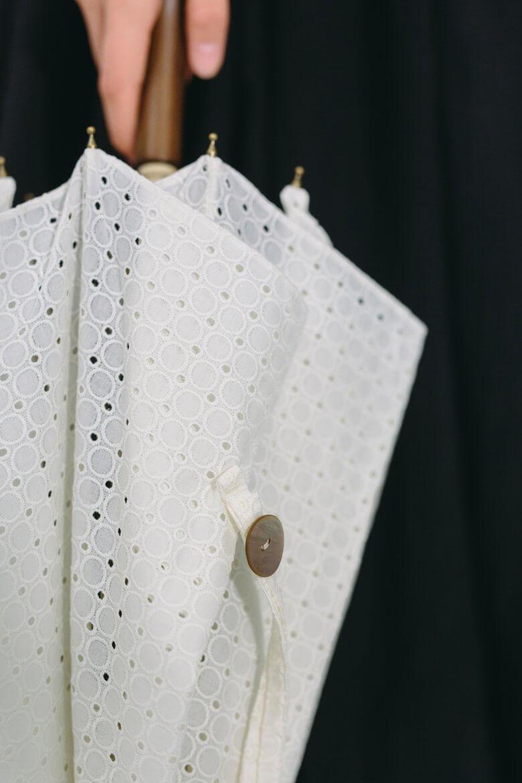 BonBonStore ドット刺繍 日傘 オフホワイト