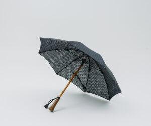 Bon Bon Store ドット刺繍 日傘 ネイビー