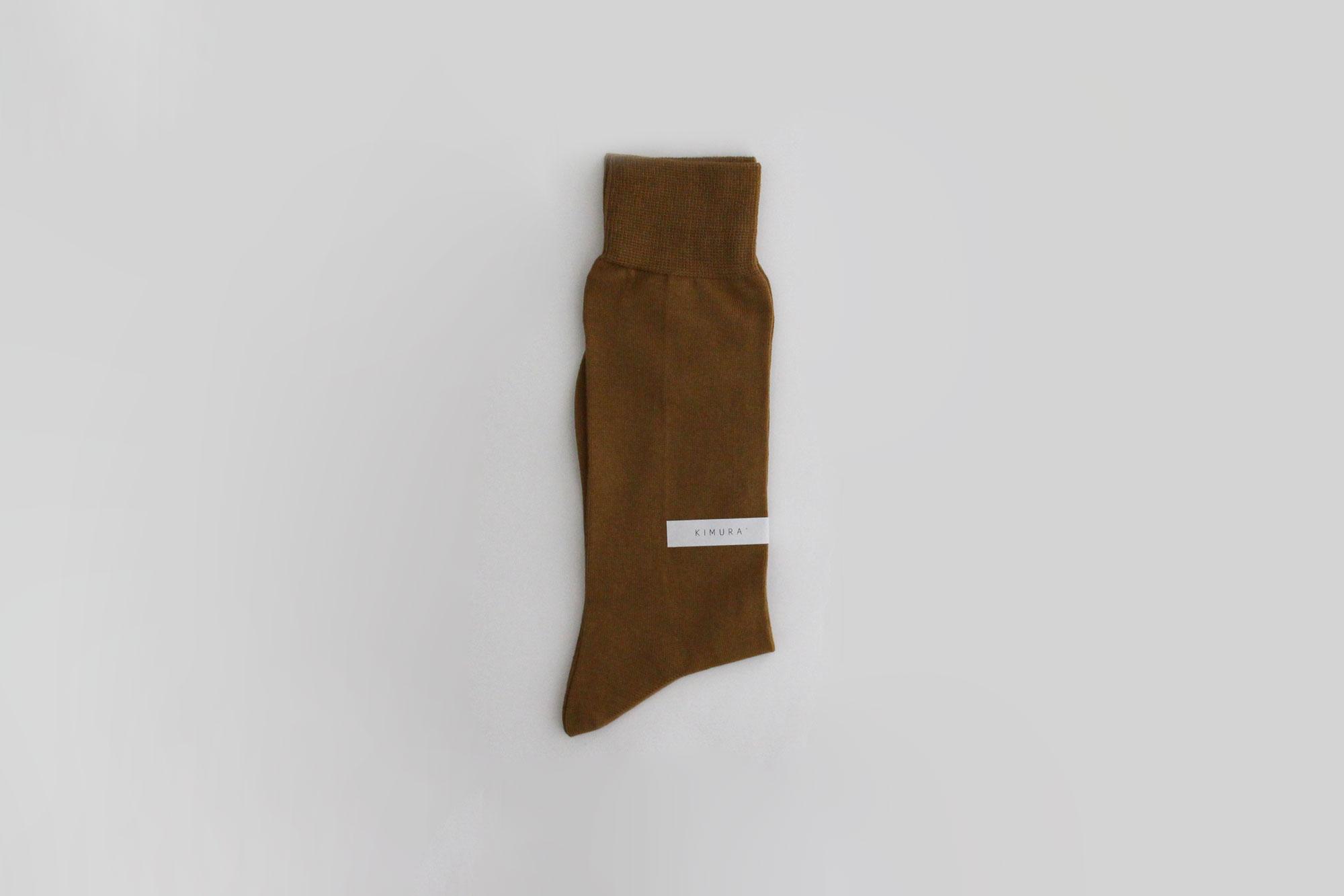 KIMURA` コットンソックス(エジプトシャンコットン) 22-24cm