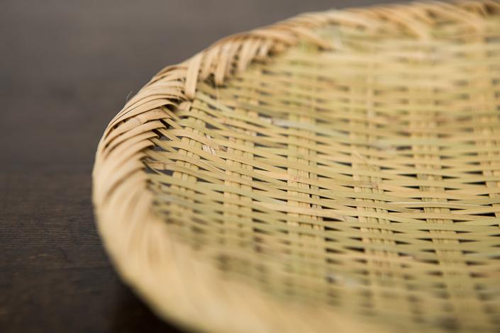 篠竹の丸ざる