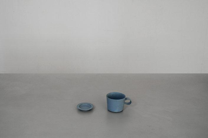 "yumiko iihoshi porcelain ""unjour"" nuit カップ smoke blue"