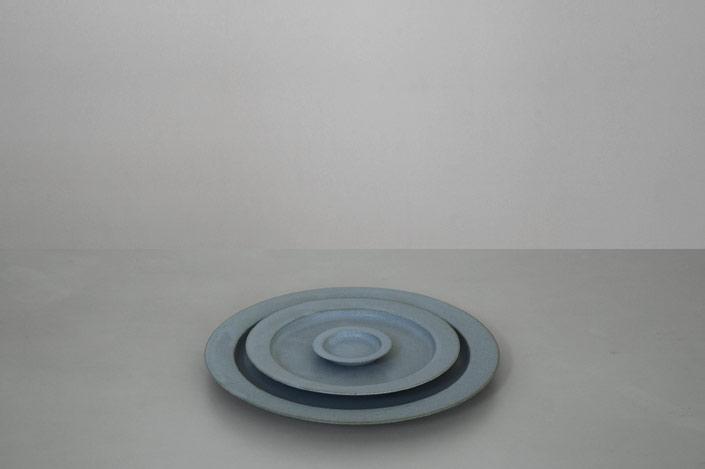"yumiko iihoshi porcelain ""unjour"" nuit プレート smoke blue"