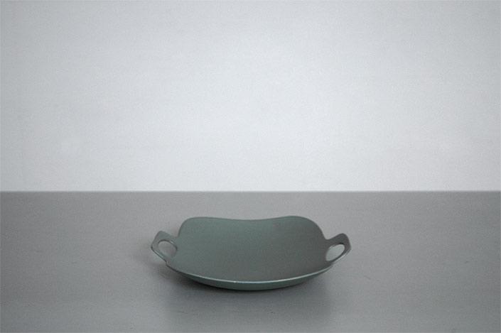 "yumiko iihoshi porcelain""bon voyage""プレート(L) green"
