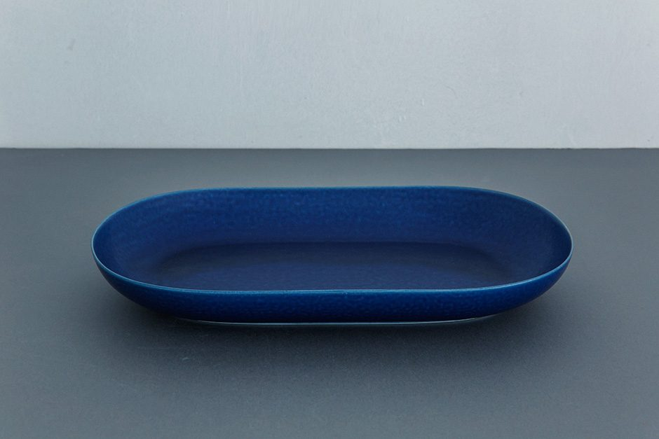 yumiko iihoshi porcelain ReIRABO オーバルプレート off shore blue