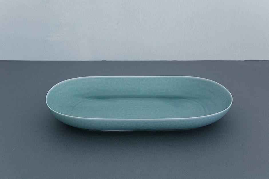 yumiko iihoshi porcelain ReIRABO オーバルプレート spring mint green