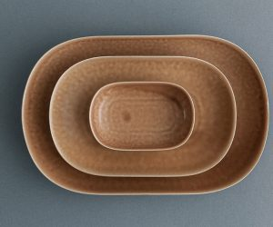 yumiko iihoshi porcelain ReIRABO オーバルプレート warm soil brown