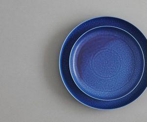 yumiko iihoshi porcelain ReIRABO ラウンドプレート off shore blue