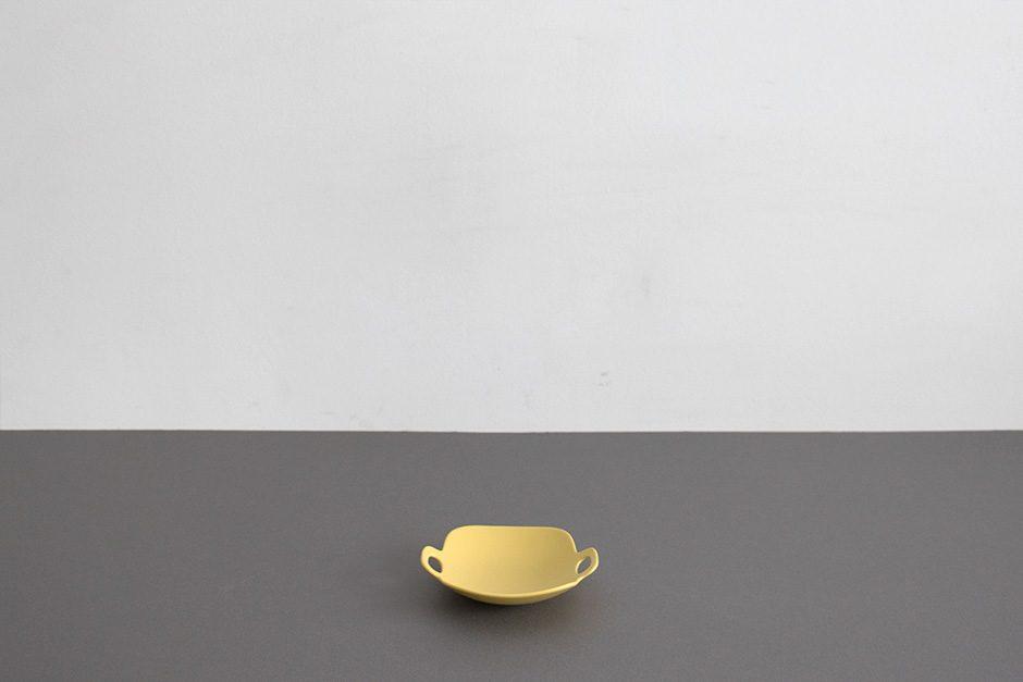 "yumiko iihoshi porcelain ""bon voyage"" プレート yellow"