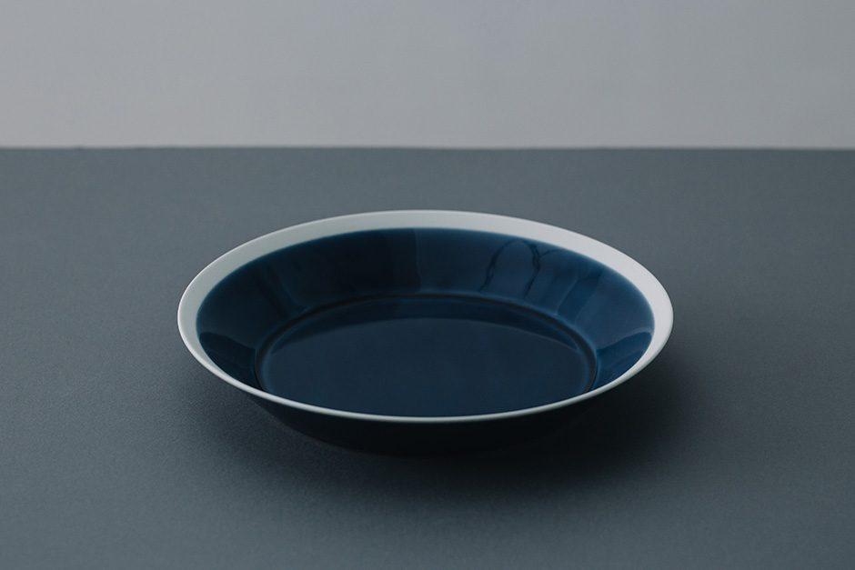 yumiko iihoshi porcelain dishes plate ink blue