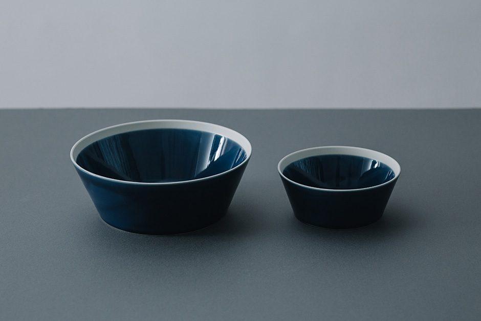 yumiko iihoshi porcelain dishes bowl ink blue