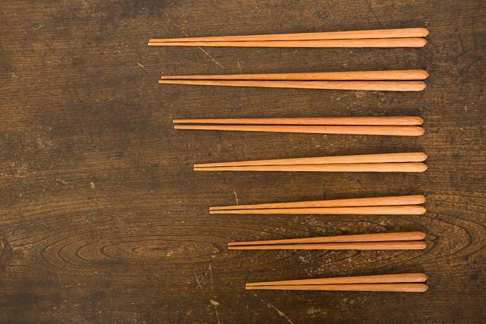 福山修一さんの削り箸 15〜19.5cm