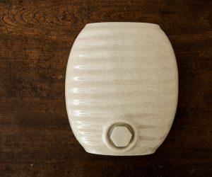 弥満丈製陶 陶器の湯たんぽ 白