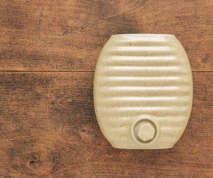 弥満丈製陶 陶器の湯たんぽ サンドベージュ