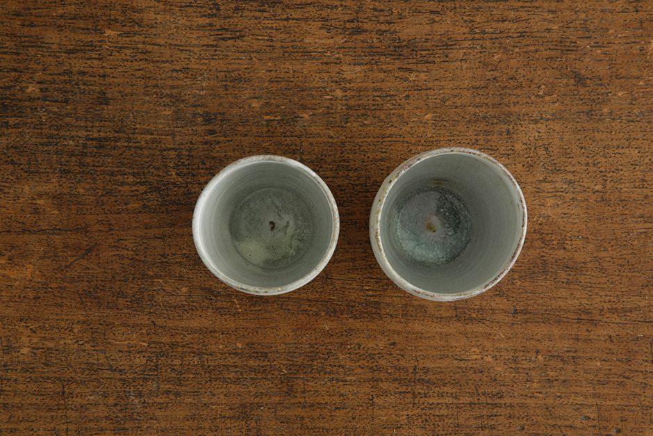 広川絵麻 つつ湯のみ 白 ほっそり