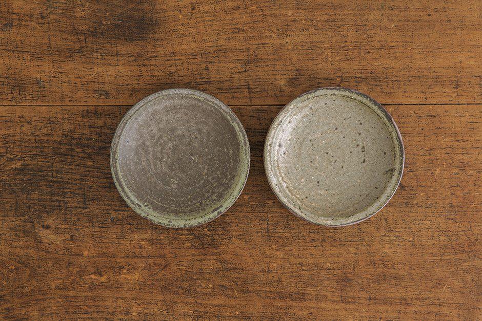 広川絵麻 4寸リム皿 黒