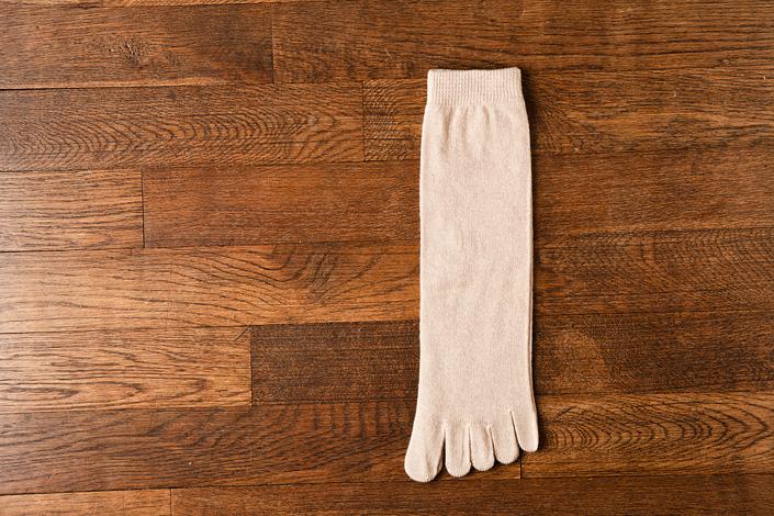 うさぎの会 オーガニックコットン5本指靴下