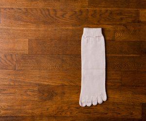 うさぎの会 ウール5本指靴下