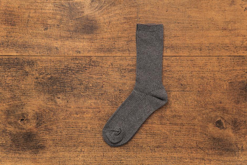 うさぎの会 上ばき用綿100%ソックス 杢グレー