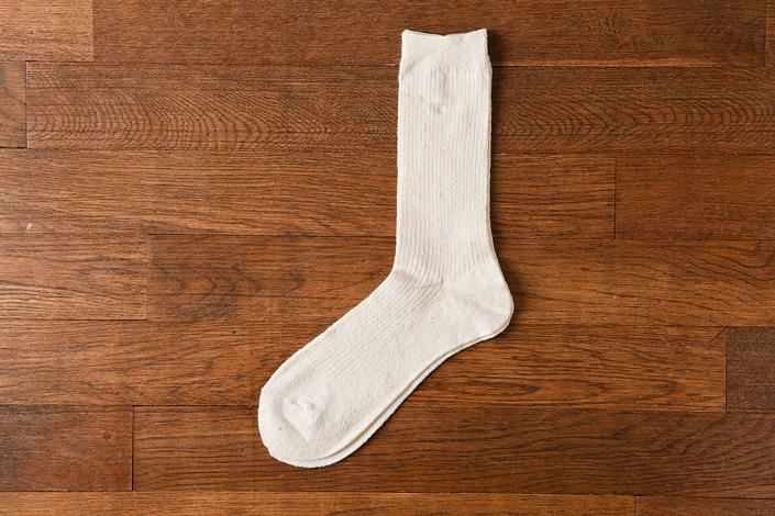 うさぎの会 新・絹くずまゆ重ねばき靴下