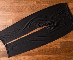 うさぎの会 冷えとり八分丈アンダー(8分丈ズボン下)黒