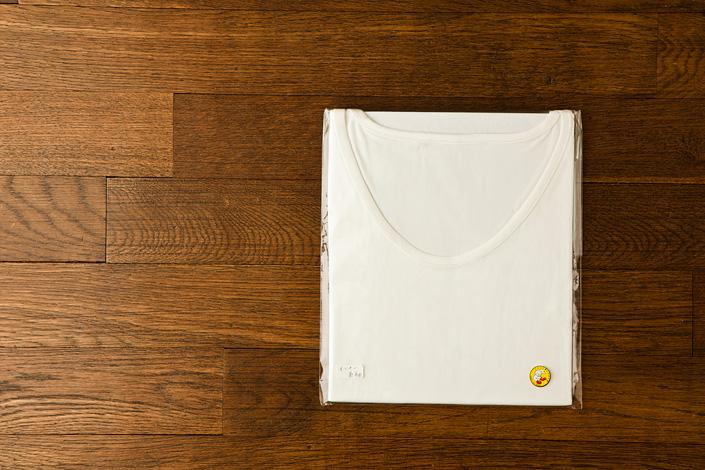 うさぎの会 インナー長袖Tシャツ 白