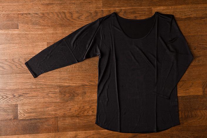 うさぎの会 インナー長袖Tシャツ 黒