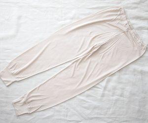 うさぎの会 ロングズボン下(裾リブ付き)ベージュ