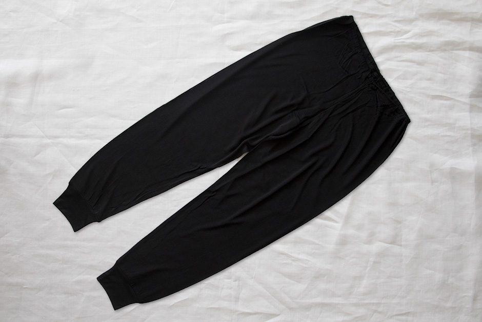 うさぎの会 ロングズボン下(裾リブ付き)黒
