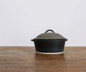 加藤かずみ 耐熱グラタン皿 蓋つき ブラック