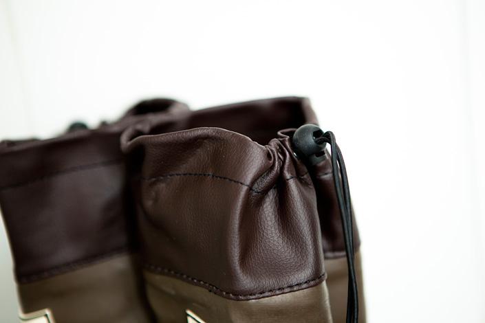 日本野鳥の会 バードウォッチング長靴 ブラウン