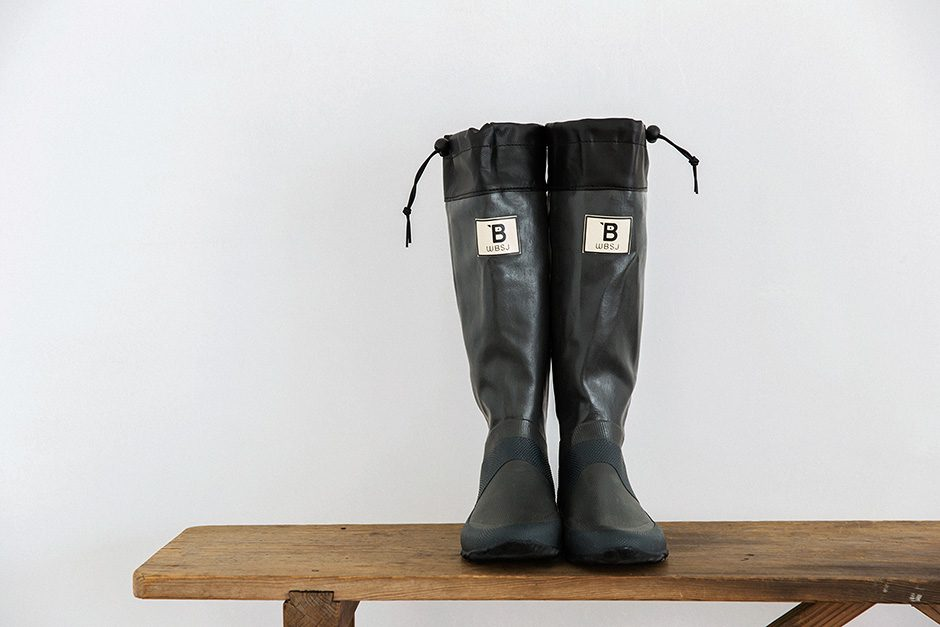 日本野鳥の会 バードウォッチング長靴 グレー