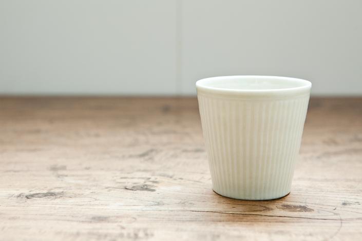 田村文宏 白磁しのぎカップ