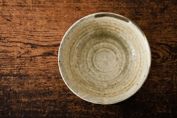 田村文宏 灰釉粉引7寸鉢