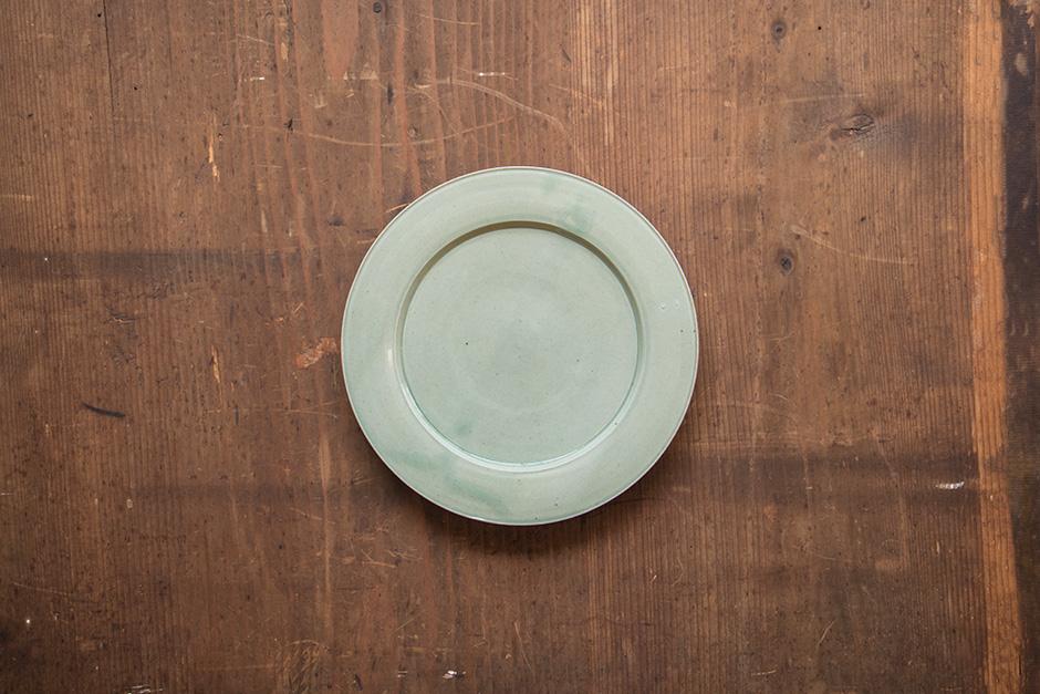 安齋新・厚子 青磁7寸段皿