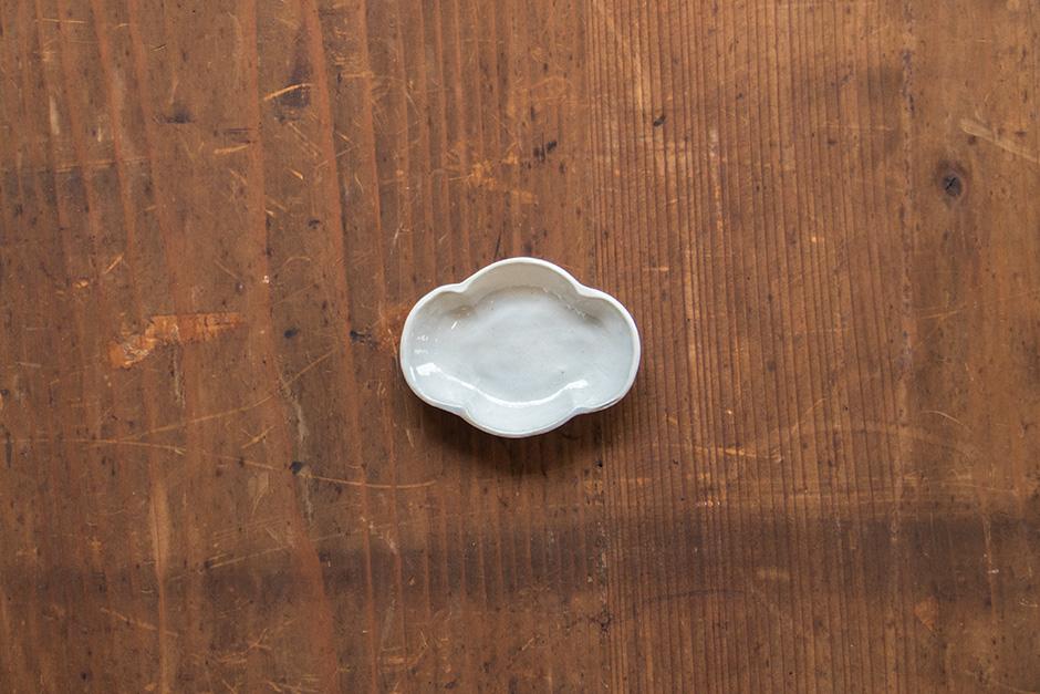 安齋新・厚子 白磁木瓜型豆皿