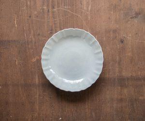 安齋新・厚子 白磁7寸なます皿