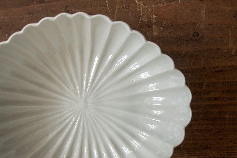 安齋新・厚子 白磁菱形菊鉢