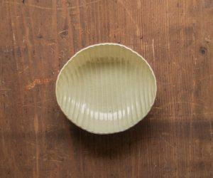 安齋新・厚子 玉子手まゆ型鉢