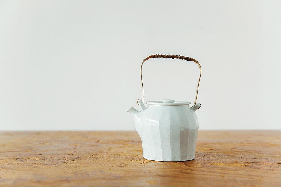 角田淳 土瓶(面取り)
