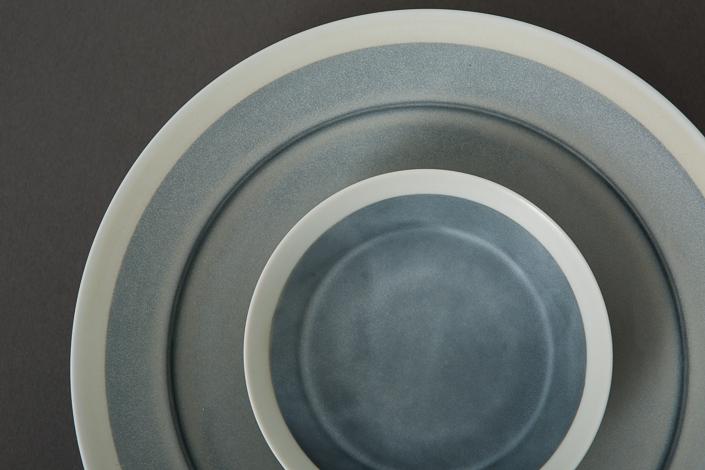 """yumiko iihoshi porcelain """"with 4"""" 14 hachi gray"""