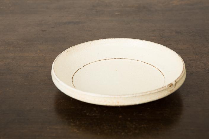 松原竜馬 黄粉引 7寸皿