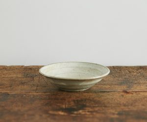松原竜馬 灰釉 6寸リム鉢