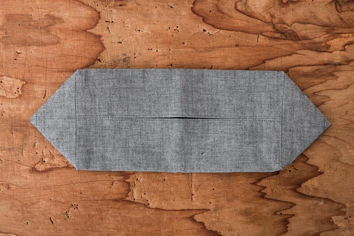 F/style 亀田縞のティッシュボックスカバー 黒鼠(グレー)