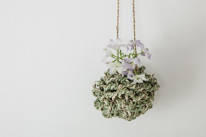 F/style スゲの縄の花かご