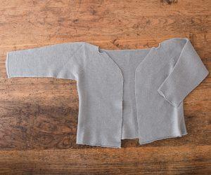 F/style 綿のニット編みカーディガン ベビー 1クワイエットブルー