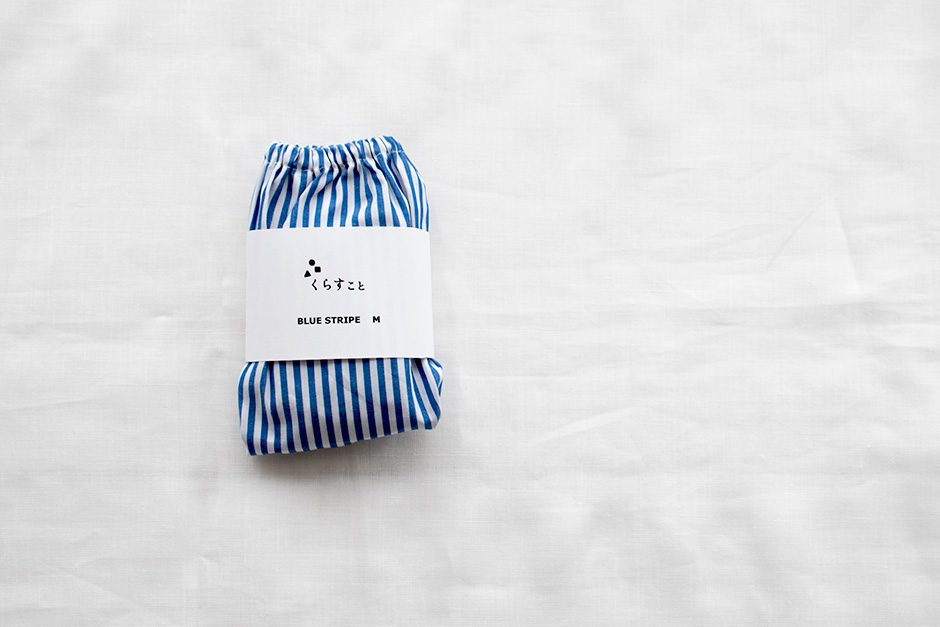 TESHIKI×くらすこと オリジナル パンツ BLUE STRIPE