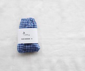 TESHIKI×くらすこと オリジナル パンツ BLUE GINGHAM