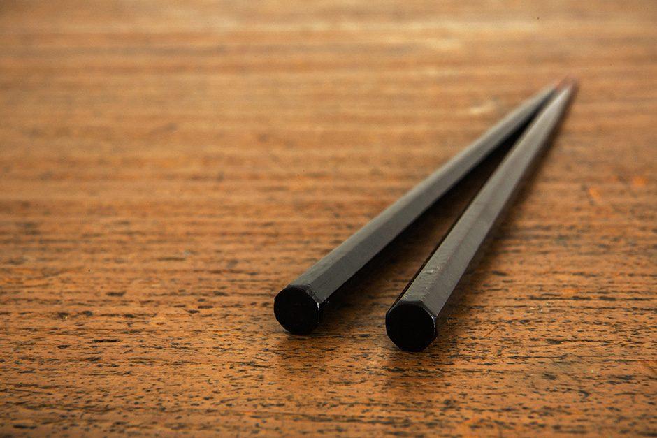 山岸厚夫 八角箸 箸先拭き漆 刷毛曙